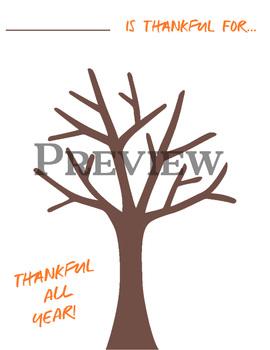 Thankfulness Trees - Thanksgiving Activity