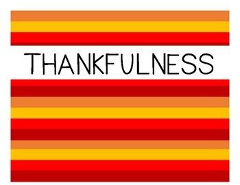 Thankfulness Virtue - Character Education
