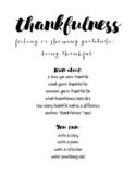 Thankfulness Writing Activity