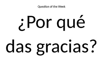 Thankgiving Conversation in Spanish