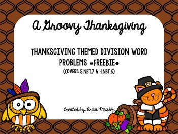 Thankgiving Division Word Problems *FREEBIE*
