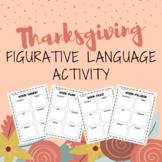 Thankgiving Figurative Language Activity