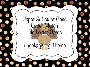Thankgiving File Folder Number Match