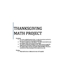 Thankgiving Math Project - Decimals, Percentages, Estimation
