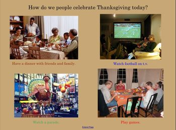 Thankgiving Notebook Lesson for the Smart Board