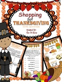 Thanksgiving Shopping with Decimals (NO PREP)