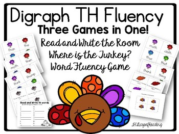 Thankgiving Themed /th/ Fluency Games CCSS Aligned