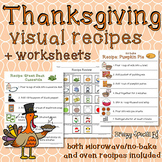 Thanksgiving Visual Recipes for Special Education