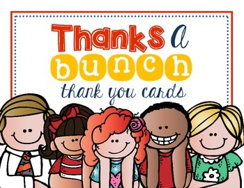 Thanks A Bunch Thank You Cards FREEBIE