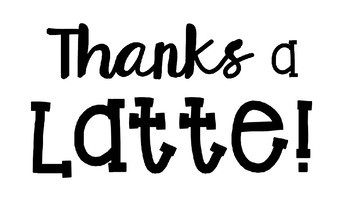 Thanks A Latte Coffee Cup Wishlist for Open House EDITABLE