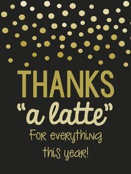 """Thanks """"A Latte"""" (Thank you FREEBIE)"""
