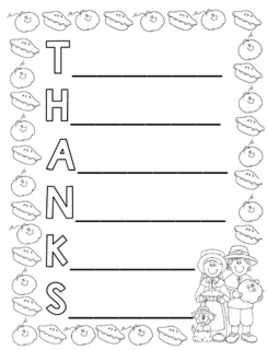 """Thanks"" Acrostic Poem"