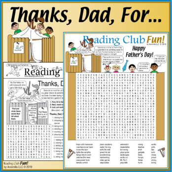 Thanks Dad (Father's Day) Two-Page Activity Set