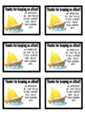 Thanks For Keeping Us Afloat Printable Note