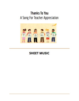 Thanks To You - Sheet Music