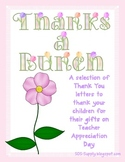 Thanks a Bunch - Thank You Notes for Teacher Appreciation Week