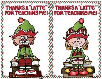 Thanks a Latte Christmas Gift Card Printables and Tiny Tags