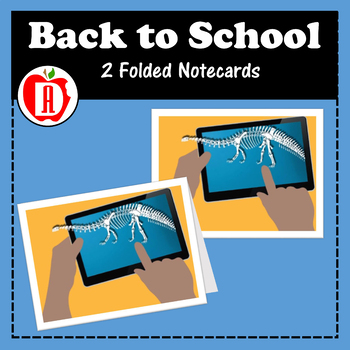 Dinosaur Back to School Note Card