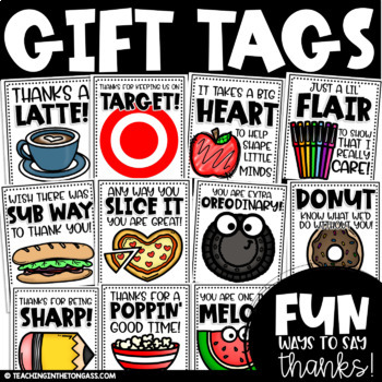 Teacher Tags (Teacher Appreciation and Volunteer Thank You Tags)