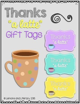 graphic regarding Thanks a Latte Printable Tag named Due A Latte Reward Tags Worksheets Coaching Components TpT