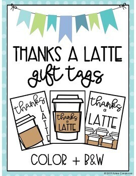 photograph relating to Thanks a Latte Printable Tag called Because of A Latte Reward Tags Worksheets Education Products TpT