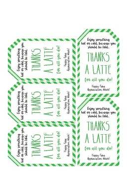Thanks a Latte Para Appreciation Week