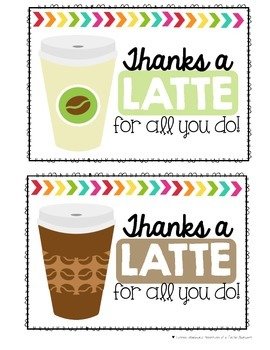 Thanks a Latte Tags