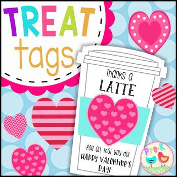 Latte Valentine Gift Tags