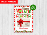 Thanks a Latte for Taking Care of our Munchkin, Gift Card Holder, Appreciation