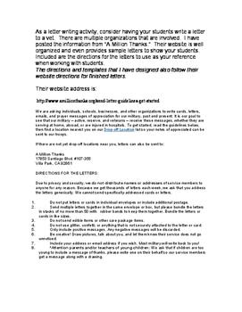 Letter Writing for Veterans Day