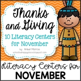 Thanks and Giving {10 Literacy Centers for November}