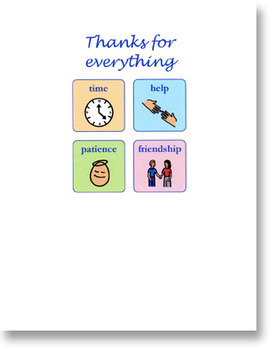 FREEBIE! Thanks for Everything Note Card - Made with Picture Symbols