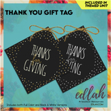 Thanks for Giving Gift Tags - 3 Size Options