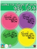 Thanks for Helping Me Grow - Gift Tags