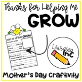Thanks for Helping me GROW: Mother's Day Craftivity