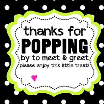 """Thanks for """"POPPING"""" by"""