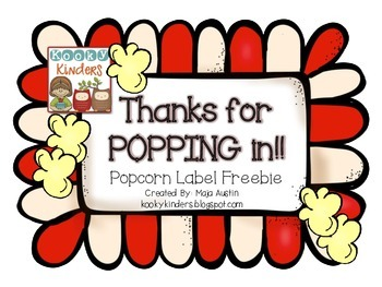 Thanks for POPPING in-Popcorn Label Freebie