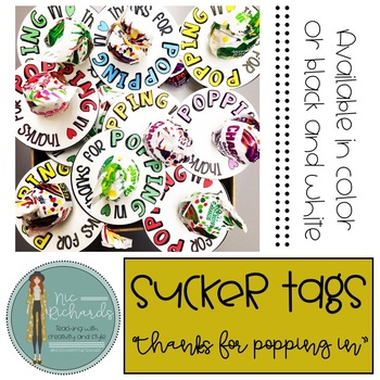 Thanks for POPPING in! Sucker Tag