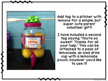 Thanks for Pitching In Gift Tag!