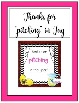 Thanks for Pitching in Tag