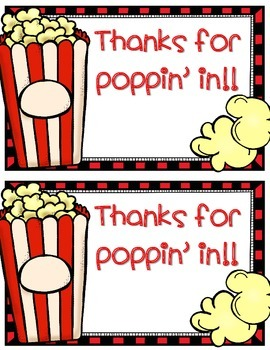 """Thanks for Poppin"""" In Tag"""