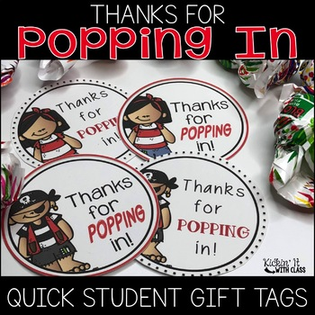 Thanks for Popping In Circle Tag {Pirate Version}