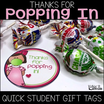 Thanks for Popping In {Editable} Circle Tag