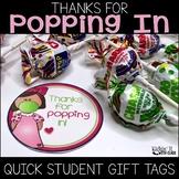 Thanks for Popping In Meet the Teacher Gift Label