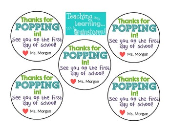 """Thanks for """"Popping"""" In! - Freebie!"""