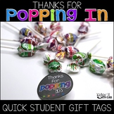 Thanks for Popping In Meet the Teacher Gift Label {Brights}