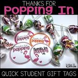Thanks for Popping In Meet the Teacher Gift Label {Flamingo}