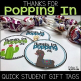 Thanks for Popping In Meet the Teacher Gift Label {Llama and Cactus}