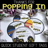 Thanks for Popping In Meet the Teacher Gift Label {Superhero}