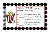 Thanks for Popping In Parent Teacher Conference tags for c